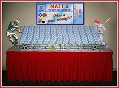 baseball candy buffet signs | Table Decorations - Partiesbydebi.net - Bar Mitzvah - Your Theme ...