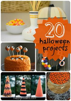20 Halloween Projects from Tater Tots & Jello. #crafty #DIY