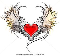 winged heart painting - Google Search