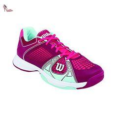newest daf9f fd95e Wilson RUSH NGX WOMAN, Baskets de tennis femme - Multicolore - Mehrfarbig  (Cerise   Merlot   Mint Ice), 41 1 3 EU  Amazon.fr  Chaussures et Sacs