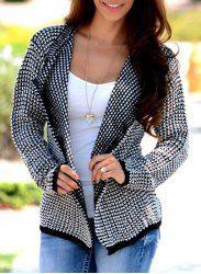 Sweet Turn-Down Collar Loose Long Sleeve Cardigan For Women