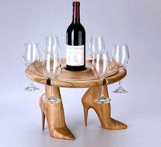 Wine On Wheels di Mario Philippona Weird Furniture, Furniture Styles, Unique Furniture, Furniture Design, Luxury Furniture, Furniture Decor, Wine Glass Holder, Wine Bottle Holders, Funky Design