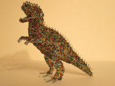 Dinosaurus #3 African Masks, African Art, Animal Key Rings, Beaded Animals, African Animals, Wire Art, Stone Art, Animal Paintings, Malachite