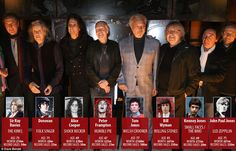 Legendary line-up: Roger Daltrey, 73, gathered some of the world's most iconic rockers - w...
