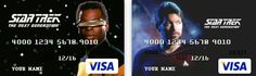 Why are these not around now? Star Trek The Next Generation Themed Visa Cards