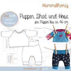 Für Puppen: Shirt und Hose, Windel und Badetuch, Kleid, Beanie und Loop, gratis Schnittmuster und E-Books zum Download