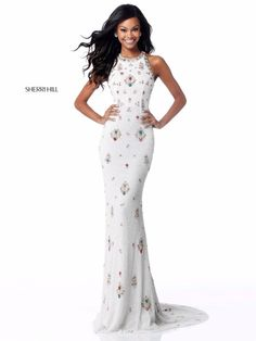 9b5afd45 Check out the deal on Sherri Hill 51661 Open Lace Up Back Beaded Prom Dress  at