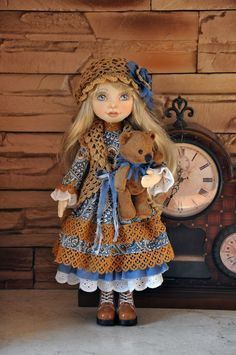 Hey, I found this really awesome Etsy listing at https://www.etsy.com/au/listing/223232419/textile-doll-decorative-doll-collector
