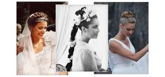 Delicate lace wedding dresses and natural beauty looks are becoming more popular as the boho wedding trend grows, and a braided hairstyle is the finishing touch for brides-to-be. Less traditional than a chignon and more polished than a loose style, the braid is making a big comeback to wedding style. Ffrom fresh flowers woven into a plait to braided chignons and crowns, we take inspiration from Elizabeth Taylor, Beatrice Borromeo and Bette Franke for six ways to achieve the look.