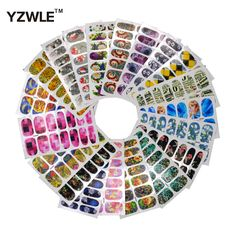 ZKO 2017 New Arrivals 10.5cm x 6cm DIY Decals Mix 20 Styles Nails Art Water Transfer Printing Stickers For Nails