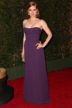Amy Adams wears a Vivienne Westwood dress to the Governors Awards in Hollywood.