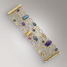 Bracelets - Yellow gold - colored gemstones - BB1697 MIX300