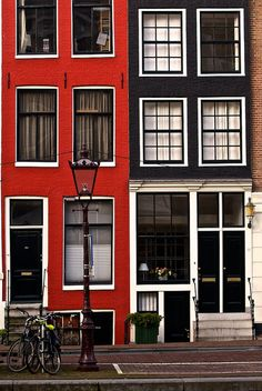 Red&Black - a great company, Amsterdam, Netherlands. I Amsterdam, Amsterdam Netherlands, Amsterdam Houses, Oh The Places You'll Go, Places To Travel, Beautiful World, Beautiful Places, Architecture Unique, Building Architecture