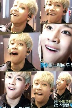 Bam Bam's funny face as MCountdown Begins with Got7