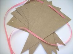 Banner supply bunting pennant garland supply by krazykatedesigns, $4.00