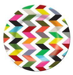 Dinner Plate... perfect for outdoor entertaining this summer! Chevron with a fun, fresh twist!