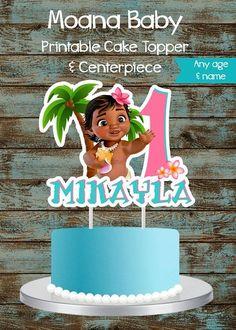 Moana Baby Cake Topper, Moana Cake Topper, Printable Moana Centerpiece, Moana Birthday Party Decorations, Moana Centerpieces, Moana Cake