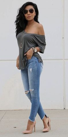 42 Fashion Teenage To Not Miss 42 Mode Teenager zu verpassen Jeans Outfit Summer, Cute Spring Outfits, Outfit Jeans, Spring Wear, Summer Jean Outfits, Cute Jean Outfits, Denim Outfits, Blazer Outfits, Mode Outfits