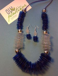 Collana e orecchini riciclo creativo Oui Plastique