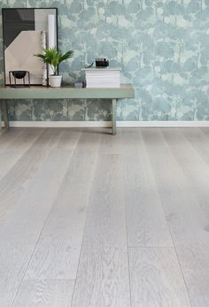 Beautiful nature tones, grey, brown and white in Oak Handwashed BOLE, brushed matt lacquered. Wooden Flooring, Entryway Tables, Dining Table, Interior, Modern, Floors, Furniture, Beautiful, Home Decor