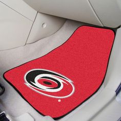 Fanmats Carolina Hurricanes Two Piece Printed Carpet Car Mat Set, Team