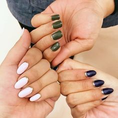 14 Nail Colors That Can Instantly Boost Your Mood nail colors - Nails Matte Black Nails, White Nails, Black And White Nail Art, Olive And June, Aloe Vera For Hair, Nails 2018, Hair Color Dark, Gel Nail Designs, Shiny Hair