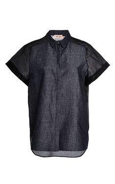 Conny Shirt In Light Indigo by No. 21 for Preorder on Moda Operandi