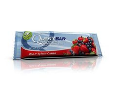 Quest Nutrition Protein Bar, Mixed Berry Bliss, 20g Protein, 5g Net Carbs, 190 Cals, Low Carb, Gluten Free, Soy Free, 2.12oz Bar >>> You can get more details by clicking on the image.