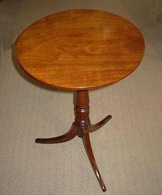 19thc Mahogany Tilt Top Table