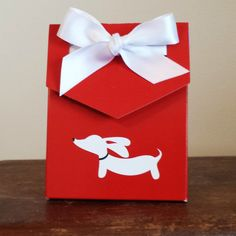 Valentine's Day Gift Box | White Dachshund on Red – The Smoothe Store