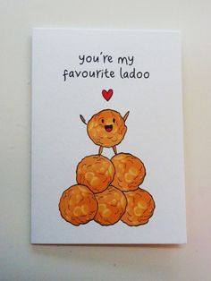 Funny Indian Food-inspired Greetings Card - Ladoo