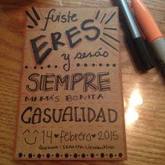 ***Fuiste... #señoritaClementinadelAmor #love #quotes #lettering