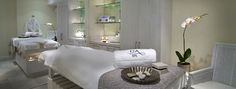 Spas owners can modified their treatment rooms into a lap of luxury with some simple tricks of the tricks of the trade.  We were asked to modify 6 treatment room of an existing Day Spa, which was recently purchased by a new operator. Our budget was only $ 3,600.00 per room to provide a unique look and feel. We added 5 different types of materials with color matching tones and magic happened.