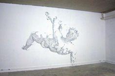 Baptiste Debombourg. Wall sculpture made of staples. modern art.