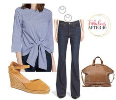Tie front top with jeans