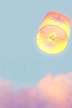 Walt Disney movie animation Rapunzel Tangled floating lights