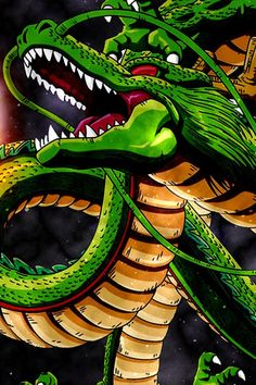Shenron from the Dragon Ball Series Dragon Ball Z, Dragon Z, Dbz, Manga Anime, Anime Art, Akira, Sheng Long, Japon Illustration, Manga Dragon