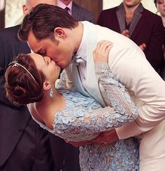 three words, eight letters..  Blair + Chuck