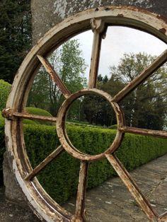 Through the round window mirror ..beautiful preserved patina..