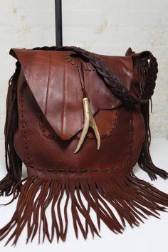 Jimmi Wisniewski Giant Cognac Hobo Bag