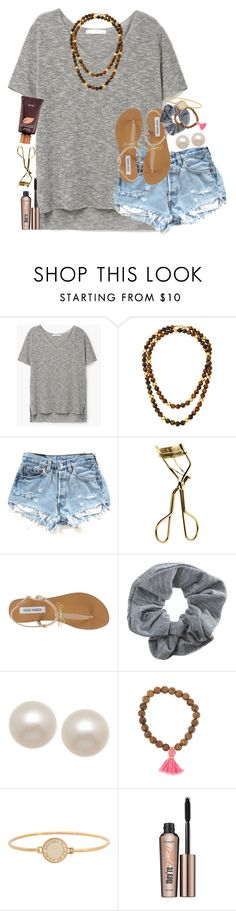 """""""John Tucker Must Die>>"""" by thefashionbyem ❤ liked on Polyvore featuring MANGO, Kenneth Jay Lane, MAC Cosmetics, Steve Madden, Topshop, Honora, Marc by Marc Jacobs, Benefit and tarte"""
