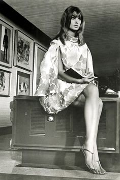 """Jean Shrimpton writing on the set of her first film, Privilege, 1967. """"Because it is a """"director's picture,"""" I've neglected to mention the acting. But if you care, Jones is quite adequate as the pop singer, and Jean Shrimpton is better than I..."""