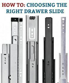 Here's a quick introduction to the basic characteristics of slides, as well as some of the features and benefits of different types of slides. #drawerslides #slides #drawerhardware #drawerhelp