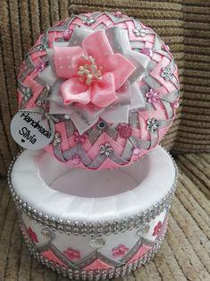 Ribbons, Jewelry Box, Birthday Cake, Desserts, Handmade, Diy, Crafts, Food, Decorated Boxes