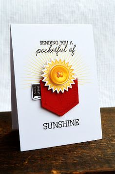 """Pocket full of sunshine."" Card by Jess Witty for Papertrey Ink (March 2012)"