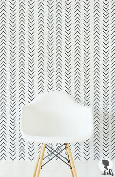 Scandinavian Design Arrow Removable Wallpaper L332 by LivettesKIDS
