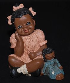 1986 All God's Children Rachel #84 Girl Sitting w/ Doll MISS MARTHA HOLCOMBE  https://www.facebook.com/GottaHaveItCollectibles