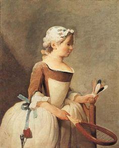 Young Girl with a Shuttlecock, jean-Baptiste-Simeon Chardin