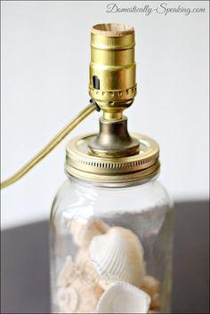 Gorgeous mason jar lamp diy project