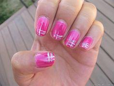hot pink nail art